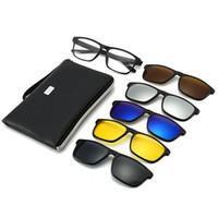 2020 5 в 1 Солнцезащитные очки клип на поляризованные очки клип Магнитные lentes вождения солнцезащитные очки ночного видения