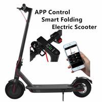 Alemania EE. UU. Stock Bluetooth Control de aplicación inteligente Plegable Scooter eléctrico de 8.5 pulgadas Neumático Ebike aleación de aluminio 2 ruedas Bicicleta eléctrica Scooter