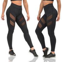 Nueva Moda Mujeres Leggings Sexy Mesh Leggins Heigh Calidad Hot Solen Verano Malla Patchwork Pantalones Femenino Ladgings