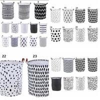 INS stoccaggio cesti Bins lavanderia Hamper carrello bagagli Abbigliamento dell'organizzatore lavanderia Bag Pois lavanderia KKA8040