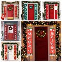 عيد الميلاد الاثنان باب راية مغطاة تسجيل عطلة عيد الميلاد الشنق الديكور مغطاة تسجيل لوازم الديكور الأسرة حزب الاحتفالية CGY419