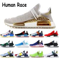razza umana Box NMD Pharrell Williams uomini donne scarpe metallico pacchetto solare rosso secchione blu inchiostro Nobel specie infinite mens scarpe da tennis correnti