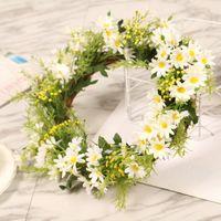 Декоративные цветы венки реалистичные моделирования ротанга подсолнечника венок дверной цветок дома декор искусственного лета