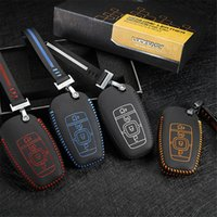 Genuine leather Remote car key case for ford mondeo 2017 ecoboost cover holder