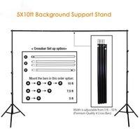 Фотография 10Ft Профессионального фона Rack Set Фото Студия Регулируемого фона Поддержка Стенд Фото Crossbar студия Kit