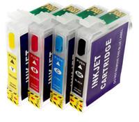 2 insiemi / lotto Nuovo 73N T0731N ricaricabili cartuccia d'inchiostro con chip per Epson Stylus TX200 TX410 TX210 TX300F T40W TX600FW TX550W stampante