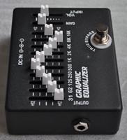 Freeshipping EQ-99 EQ Ekolayzır 10 Bant Profesyonel Gitar Parçaları Etkisi Pedalı Enstrüman Elektronik için Trual Bypass