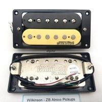 1 Set Zebra Alnico Humbucker Pickup per chitarra elettrica Alnico 4C Collo e ponti Pickup per chitarra elettrica Eleciric