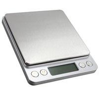 2000g / 0.1g LCD portátil mini eletrônico escalas digitais caso de bolso caixa postal Balança de peso de jóias escala digital HWC848