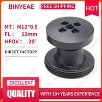 BINYEAE M12 lente botão FL 12 milímetros lente pin hole por 1/3 CCD com F2.0 CCTV com M7 a M12 anel de montagem do conversor para ajustar