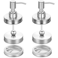 6 Pieces Mason Jar Bathroom Accessories Lids Set Mason Jar S...