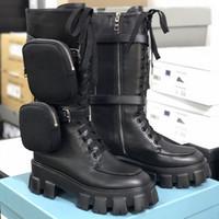 مصمم أحذية نسائية Rois الأحذية الجلدية الحقيقية مارتن الأحذية نايلون الركبة الأحذية أستراليا 2 الحقيبة القابلة للإزالة السيدات الجوارب الأحذية