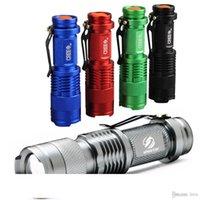 다채로운 방수 LED 손전등 고성능 2000LM 미니 스팟 램프 3 개 모델 줌이 가능한 캠핑 장비 토치 플래시 라이트
