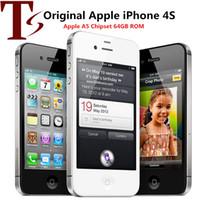 Отремонтированные 100% оригинальные Apple iPhone 4S разблокированы мобильный телефон двойной ядра 64 ГБ / 32 ГБ / 16 ГБ 3.5 дюйма экрана 5.0MP смартфон