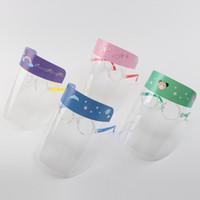 Bambini Visiera trasparente anti-fog maschera pieno accessori Occhi Protector fumetto Premium PET Viso Shields scuola