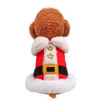 عيد الميلاد الحيوانات الأليفة معاطف الكلاب القطط جاكيتات الخريف الدافئة شتاء ملابس الحيوانات الأليفة عطلات السنة الجديدة تيدي بش