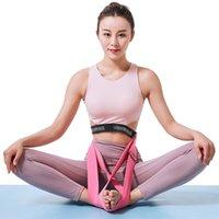 Élastiques Yoga bandes 50pcs de sécurité Posture sain soutien extensible Sangle pour Lotus Asana Position Femmes Hommes Yoga méditation Assis en tailleur Ceintures