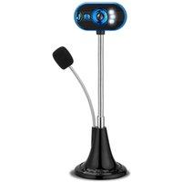 USB HD веб-камера с микрофоном для дома и офиса Функция ночного видения видео камеры LED с микрофоном