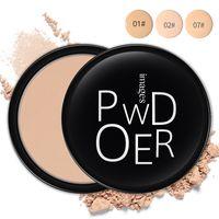 Polvo del maquillaje de 3 colores suelta el polvo suelto de la cara de maquillaje a prueba de agua de la piel de acabado en polvo Maquillaje Corrector Crema BB