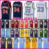 Майкл 23 JD MENS Auburn Чарльз Баркли 34 Basketball Jersey Valley High School Университет штата Индиана Larry 33 Птица Мюррей Ja 12 Моран