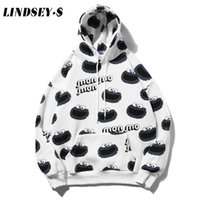LINDSEY SEADER Sesame points Prints Harajuku Toison Sweat-shirts Streetwear 2020 Hip Hop Pull Casual Hauts à capuchon
