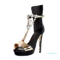 핫 Sale- 여름 스타일 여성 여성 수제 높은 굽 샌들 J-스트랩 오픈토 파티 사무실 드레스 패션 샌들 신발