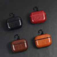 Leather Case for Airpods Pro PU Protector Cover Anti Lost Ho...