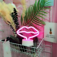 USB LED 네온 로그인 네온 라이트 휴가 크리스마스 파티 로맨틱 웨딩 장식 키드 선물 플라밍고 네온 램프 유니콘 심장 빛