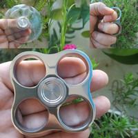 plumeros de nudillo de acero inoxidable pulido espejo de la persona agitada Spinner 10 mm de grosor Peso 140g pulido espejo