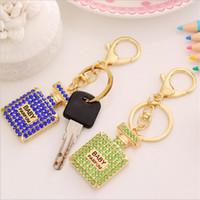 DHL الكريستال الماس سلسلة المفاتيح الطفل عطور 6 ألوان سحر العالمي اكسسوارات BlingBling الهاتف الخليوي الأشرطة الحبل