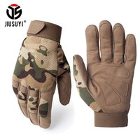 Multicam Tactical Gloves Antiskid Army Military Bicycle Airsoft Motocycel Shoot Paintball Work Gear Camo Full Finger Gloves Men LJ200924