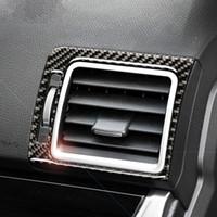 Per Subaru Forester in fibra di carbonio Car Interior Air Conditioner bocchetta Telaio Car Styling Sticker 2016-2018 Accessori