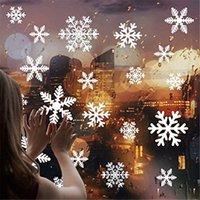 Janela Cheistmas Decoração do floco de neve adesivos removíveis Showcase telha cerâmica estática etiqueta Xmas Casa Home Decor