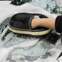 Чистки автомобиля перчатки Авто отмыть Губка Кисть стекла очиститель ткань Уход Mitt