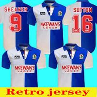 1994 Início 95 Blackburn Camisa Retro Shearer 9 Blackburn Rovers Retro Football Jersey 94 95 Blackburn Retro Sutton 16 Ripley 7 Jersey