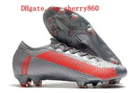 2021 Scarpe da calcio Qualità Mens Uomo Outdoor Tacchetti Mercurial Suprefly 13 Elite FG Boots Boots Scarpe da calcio Corea del Sud rosso