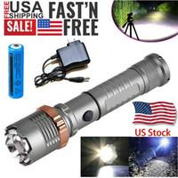 3800LM Atualizado T6 Tático LED Lanterna Lanterna Recarregável Polícia Impermeável Zoomable Caminhada Poderosa Tocha 18650 Bateria + Carregador Direto