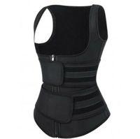 Premium Neoprene Cintura Trainer Colete Fitness Sauna Suor Bandas de Dupla Cintura Cintura Cincher Trimmer Girdle Suporte de Voltar Emagrecimento DHL GRÁTIS