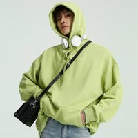 E-Baihui 2020 New Solid Color Hooded Sweater Men's Korean Version of Pure Cotton Long-sleeved Jacket Casual Loose Top M2-Z-001