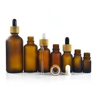 5 10 15 20 30 50 ml G Lege Frosted Amber Glass Dropper Flacon Sample Fles Potten met Bamboe Cap Essential Oil Parfum Aromatherapy Container