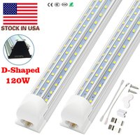 T8 Integrated Tube V-Shaped 1.2M 1.5M 2.4M 8FT Cooler Door Led Tubes Lights 120W 60W Energy Saving Tube replacement t8 4ft tube