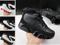Atacado 9s La Oreo Kids Basquetebol Sapatos Preto Branco Sapato Espaço Jam PE 9S Sport Trainer Crianças Sneakers Menino Menina Presente 28-35