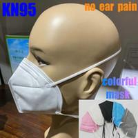 KN95 قناع عقال FFP2 قناع مصمم وجه الكربون المنشط فاخرة قابلة لإعادة الاستخدام التنفس التنفس صمام 6 طبقة واقية أسود أعلى بيع