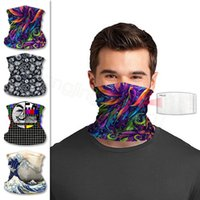 Face Masks Bandanas Solid Rainbow Printed PM 2.5 Filter Mask Outdoor Head Scarves Neck Wrap Gaiter Cycling Face Seamless Magic Scarf FF Vurs