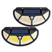 102 LED الشمسية الحركة مصباح الاستشعار الجدار الخفيفة في الهواء الطلق مقاوم للماء الأمن يارد LED الخفيفة للطاقة الشمسية في الهواء الطلق حديقة للشارع الباحة
