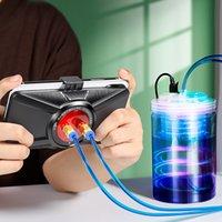 FREESHIPPING PUBG الهاتف تبريد أشباه الموصلات + مياه التبريد درجة الحرارة ذكي تحكم مروحة تبريد المحمول المشعاع Coolerpad لعبة الوسادة