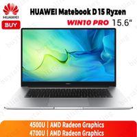 أجهزة الكمبيوتر المحمولة الأصلية Huawei MateBook D 15 Laptop 2021 AMD Ryzen 7nm الحرف R5-4500U / R7-4700U 16GB DDR4 512GB SSD Windows 10 Pro English