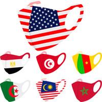 Moda Yüz Bayrak Yüz Maskeleri Maske Nefes Toz geçirmez Kulak Güneş Maske Ulusal Bayrak Basım Maskeler DHL Ücretsiz Kargo