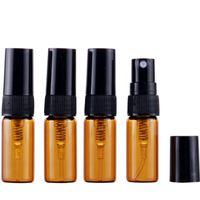 2,5 ml bouteille de tube de verre de pulvérisation brun brun médicament bouteille en verre foncé sous-bouteille flacons d'échantillon de parfum LX2970