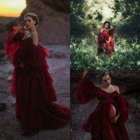 2021 femmes Robe sexy épaules Chemise de nuit Volants de nuit spaghetti dentelle Tulle Peignoir Pyjama Nouvelles robes de demoiselle d'honneur Shawel